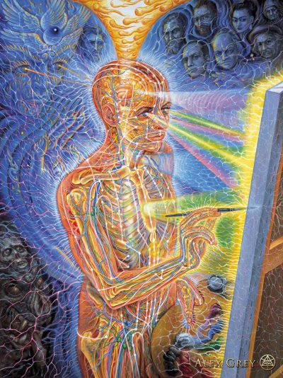 Painting by Alex Grey from AlexGray.com