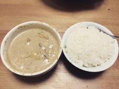 Cream of mushroom soup: so fatty, so good, no refined oils. Vegan