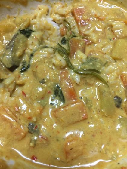 Vegetable Curry: Make you say mmm good. Fatty, no oils. Vegan.
