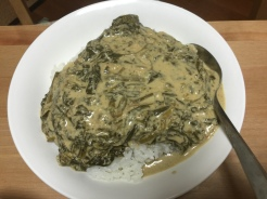 Creamed Spinach: full of fat, no refined oils, lots of nutrients. Vegan